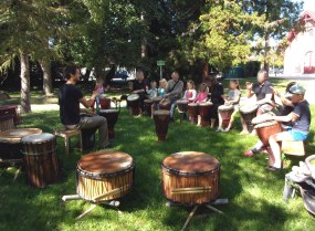cours percussion africaine Adrien HERMANN